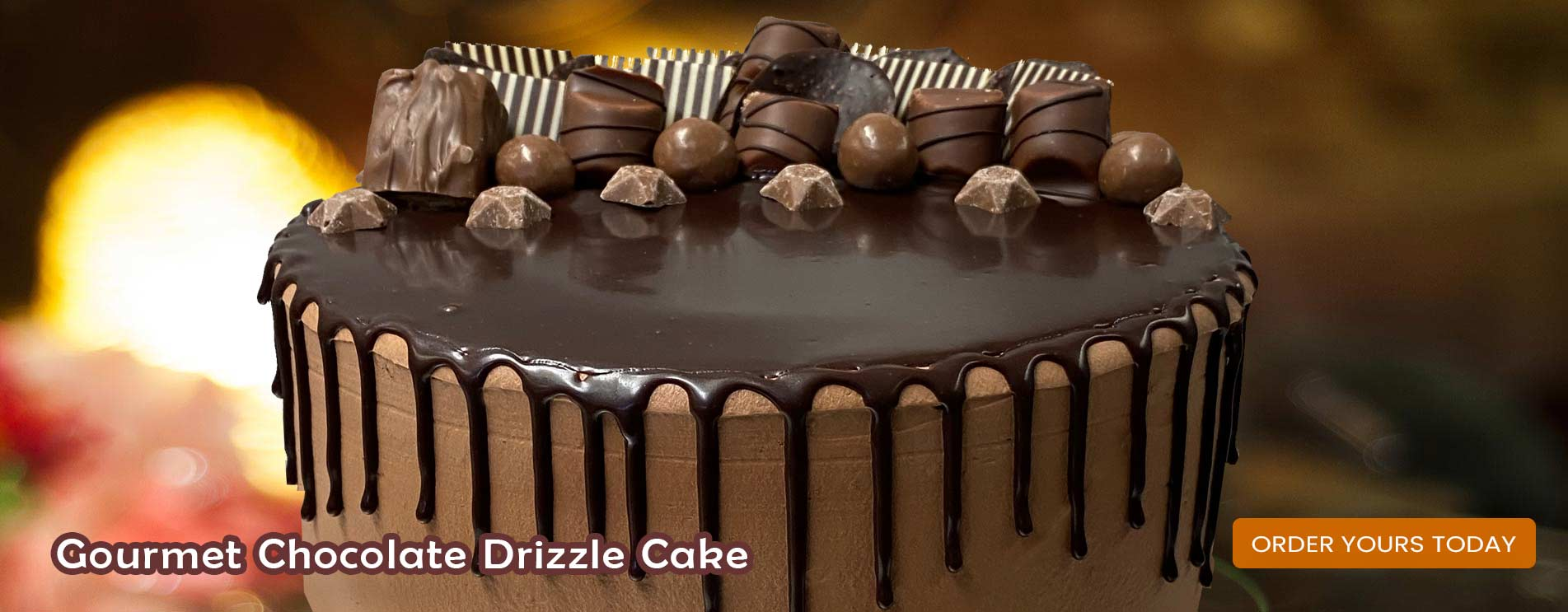 chocolate drizzle cream Cake